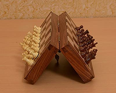 Chessbazaar Indian Traveling Folding Magnetic Chess Set 7 X 7 Inches From India