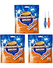Interdental Brush, Flossing Head,Easy Use Tooth Cleaning Tool
