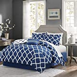 King Bed Comforter Sets for Sale Qutain Linen 6-Piece Bed in A Bag Complete Comforter Set with Free 4 Piece Sheet Set Included - Over Stock Sale (Royal Blue Galaxy, California King)