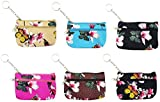 12 Pack Coin Purse, Small Zippered Keychain Wallet, Cash Holder Change Pouch for Women Girls Gift (12 Pack, Textured Butterfly)