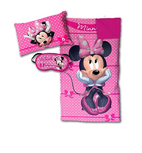 Disney Minnie Mouse Bowtique Sleepover Set - Sleeping Bag, Pillow and Eye (Kitty Sleeping Bag)