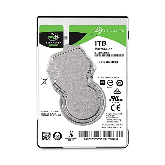 Seagate Barracuda 1TB Internal Hard Drive HDD – 2.5 Inch SATA 6 GB/S 5400 RPM 128MB Cache for PC Laptop (ST1000LM048) 51 FCPrOHhL. SS555