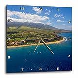 3D Rose Kaanapali-Maui-Hawaii Wall Clock, 15'' x 15''