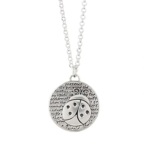 fc70b62c3 Image Unavailable. Image not available for. Color: Kevin N Anna Sterling  Silver Ladybug - Presence Necklace