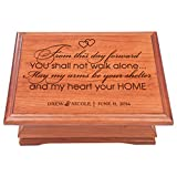Personalized Jewelry organizer wedding Anniversary Gift for Couple storage keepsake Box Her From This Day Forward