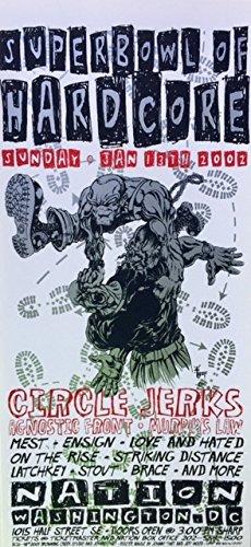 oddtoes concert posters and music memorabilia Circle Jerks Handbill 2001 Mini-Poster Superbowl of Hardcore ()