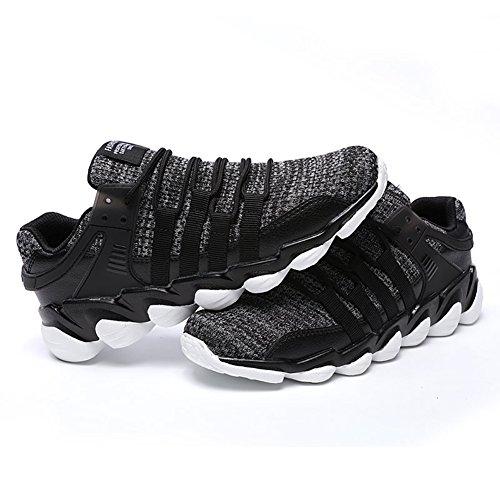 Blanc Gris sport Noir Course 39 Fexkean de mode Running Chaussure 47 Sneakers Baskets Homme ftxvqzO