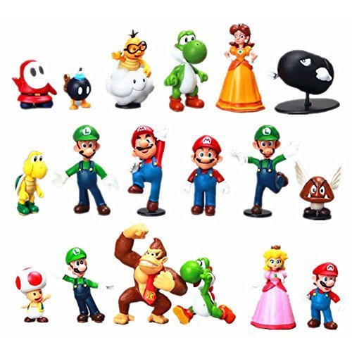 1 Jumbo Mario Toy Filled Easter Egg - 18 Assorted Characters Inside - Prefilled To Save You Time - Durable 6 Inch Egg in Bright Assorted Colors - Find Your Favorites - Hours of Creative Play for $<!--$24.95-->