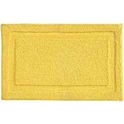 "InterDesign Microfiber Spa Bathroom Accent Rug, 34"" x 21"" Inches, Yellow"