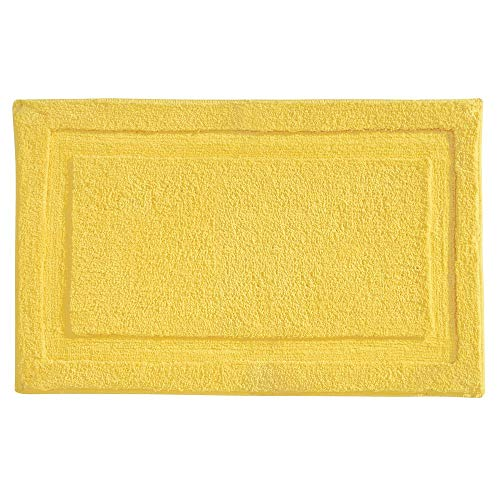 "InterDesign Microfiber Spa Bathroom Accent Rug, 34"" x 21"" Inches, Yellow"
