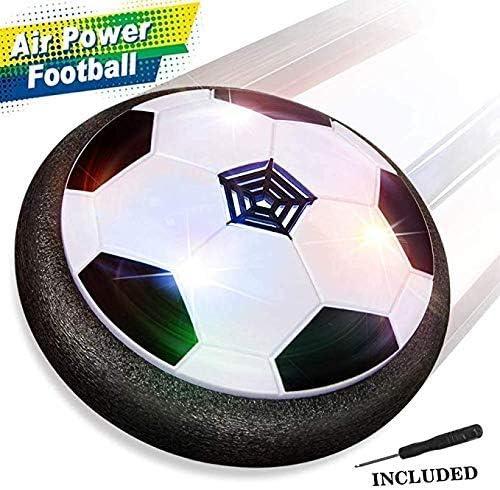 Baztoy Balón Fútbol Flotant, Pelota Futbol con Protectores de Espuma Suave y Luces LED Balones Futbol Juguetes Niños 3 4 5 6 7 8 9 10 11 12 Años, Air Power Soccer