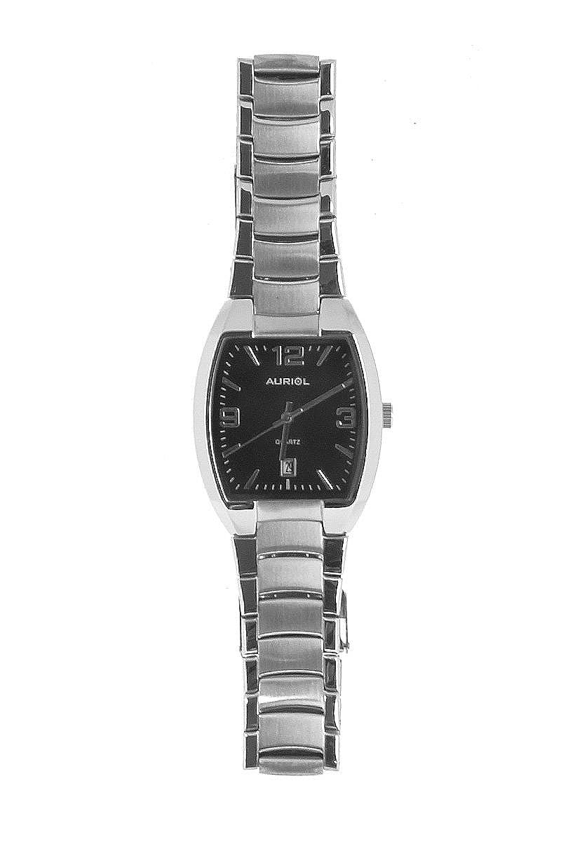 Auriol® Hombre Reloj de pulsera - Caja y correa en acero acabado: Amazon.es: Relojes
