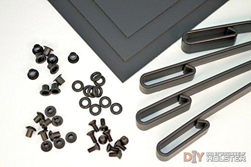 Kydex (Boltaron) Holster DIY Kit w/ IWB Over Hooks (1.5