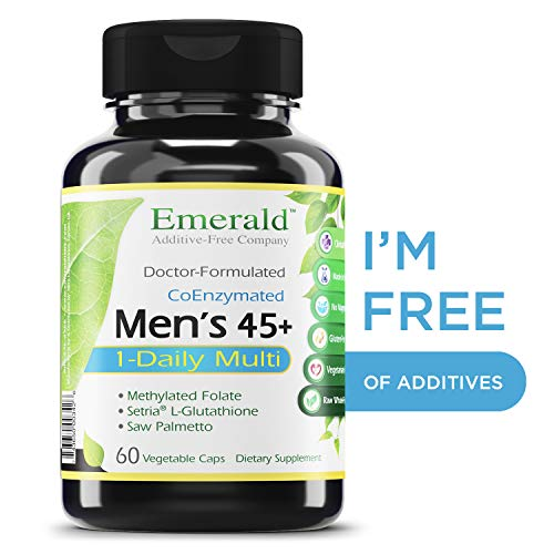 Men's 45+ 1-Daily Multi - Multivitamin with CoQ10, Saw Palmetto & Extra Lycopene - Supports Heart Health, Energy Boost, Immune System, Strong Bones - Emerald Laboratories - 60 Vegetable Capsules (Best Vegetables For Men)