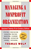 img - for Managing a Nonprofit Organization: Updated Twenty-First-Century Edition book / textbook / text book