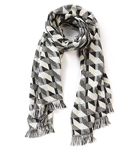 Soft Blanket Winter Scarf Large Herringbone Warp Shawl ()