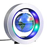 Magnetic Levitation Globe, 4'' Circular Frame O Shape Levitating Globe Colorful LED World