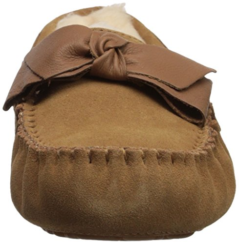 Chestnut Leather Women's Slipper Bow UGG Dakota qxZAXdEEw