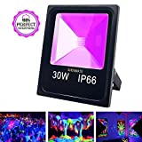ShenMate 30W Outdoor Black Light IP66 Waterproof UV LED Flood Light for Glow in the Dark Party Supplies
