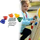 Outdoor Rock Climbing Holds Kids Large Rock Plastic Climbing Stone with Safe Mounting Hardware (5 Pack)