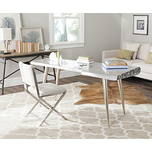 Safavieh FOX7201A Home Collection Aviator Desk, Silver