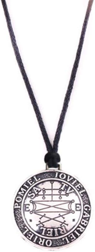 YUANYUAN520 Antiguo Amuleto Angélico Vikingo Vieja Runa como Amuleto Joyería (Metal Color : Antique Silver)