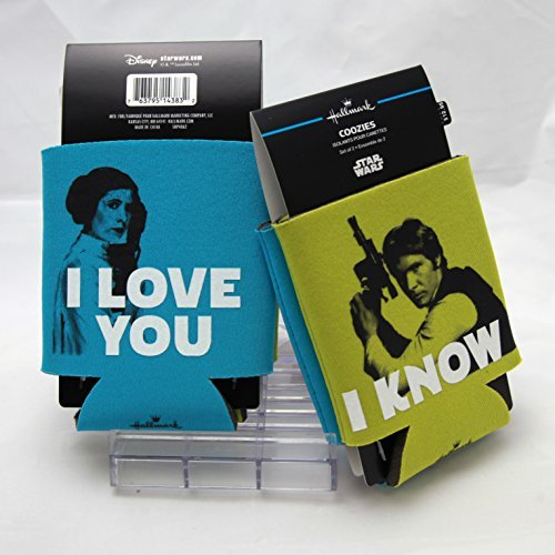 (Han Solo and Princess Leia Drink Sleeves, Set of 2 Kitchen Accessories Just Because Sci-Fi; Movies &)