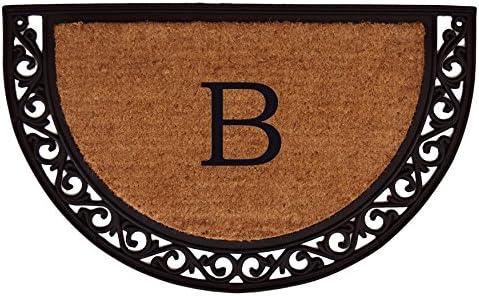 Home More 100101830B Ornate Scroll Heavy-Duty Monogrammed Doormat Letter B