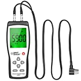 KKmoon SMART SENSOR Professional Ultrasonic Thickness Gauge Handheld LCD Digital Thickness Tester Depth Meter Range 1.2~225mm High Accuracy