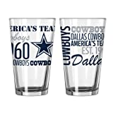 Dallas Cowboys Official NFL 16 fl. oz. Spirit Pint Glass