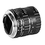 Neewer® Auto Focus Macro Extension Tube Set for Canon EOS DSLR SLR Lens, Extreme Close-Ups (Black), fits Canon EOS 1d,1ds,Mark II, III, IV, 5D,Mark II, 7D, 10D, 20D, 30D, 40D, 50D, 60D, Digital Rebel xt, xti, xs, xsi, t1i, t2i, t4i, t5i 300D, 350D, 400D, 450D, 500D, 550D, 650D, 700D, 1000D (metal bayonet)