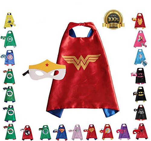 Super hero Cape and Mask, Children, Boys, Girls Dress Up Costume (Make Believe Fancy Dress)