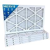 16x30x1 MERV 8 Pleated AC Furnace Air Filters - 12 PACK