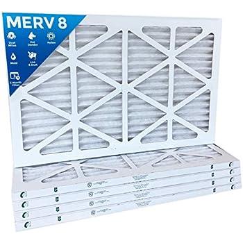 6-Pack 10x24x1 MERV 8 Pleated Air Filter