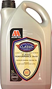 5 litres millers oils classic performance 20w50 engine oil for Classic motor oil 20w50