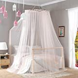 DE&QW European dome double ceiling mosquito net, Home Floor standing Princess bed canopy -D Queen2