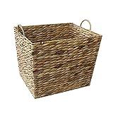 Large Water Hyacinth Rectangular Tapered Storage Basket