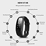Fitness Tracker, Coffea H7-HR Activity Tracker : Heart Rate Monitor Wireless Bluetooth Smart Wristband Bracelet, Waterproof Fitness Watch with Replacement Band for Android & IOS