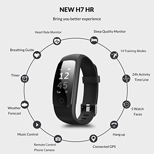 Coffea Fitness Tracker, H7-HR Activity Tracker