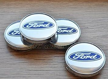 Ford - Juego de 4 tapas centrales de ruedas - 60 mm: Amazon.es: Coche y moto