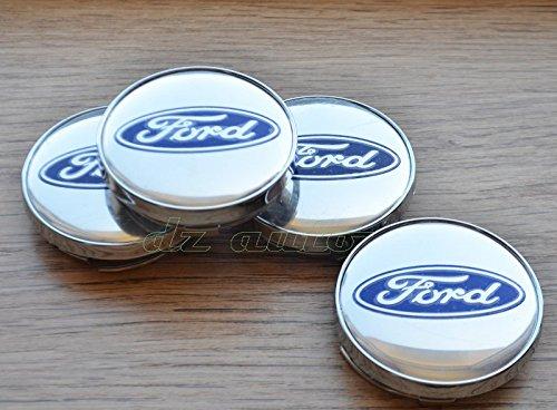 Ford - Confezione di 4 coprimozzi Ford, 60 mm DZ TRADE