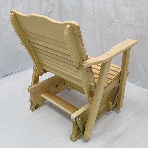 Kilmer Creek 2' Natural Cedar Porch Glider, Amish Crafted
