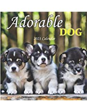Adorable Dog: 2021 Wall Calendar - Mini size 7'' x 7'' - 12 Months