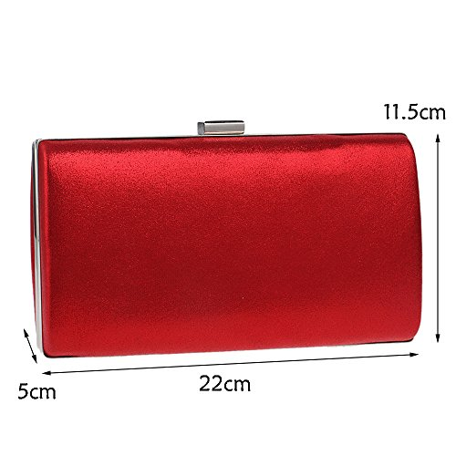 Bag Female Banquet Fashion Dinner Bag Small Clutch Bag Square Dress Evening Dress Red GROSSARTIG cBfUW1W