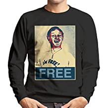 are You Being Served Mr Humphries Im Free Poster Style Men's Sweatshirt