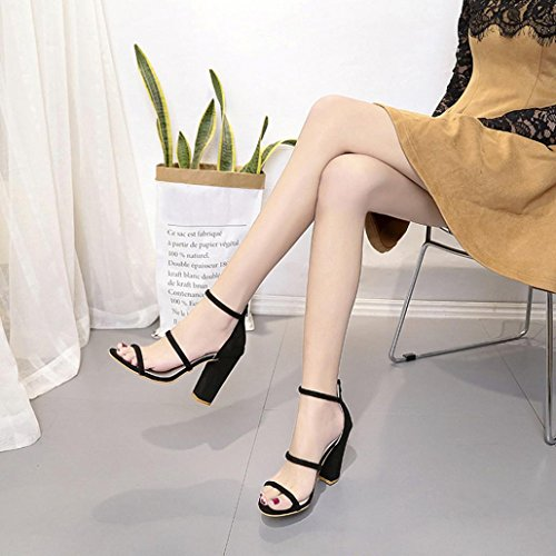 e208c609f0604 hot sale DENER Women Girls Ladies High Heels Sandals,Chunky Flock ...