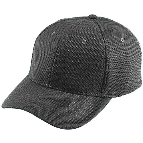 Augusta Sportswear ADULT ADJUSTABLE WICKING MESH CAP OS Black