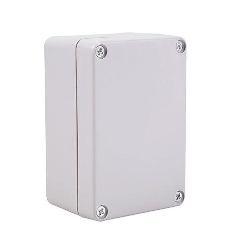 GLOGLOW Cajas de Conexiones Impermeables 1pc, Caja eléctrica de cableado plástico ABS Retardante de Llama