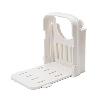 Ajustable Cortador de pan/cortador de rejilla para asar/de molde, ABS plástico respetuoso con el medio ambiente, plegable, para cortar de corte pan guía por ...