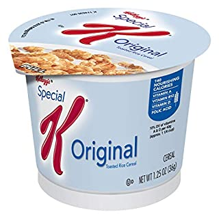 Kellogg's Special K, Breakfast Cereal in a Cup, Original, Bulk Size, 12 Count (1.25 oz each)